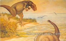 pre000007 - Dinosaurs Painted by Ernest Unterman Postcards Post Cards Old Vintage Antique