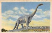 pre000025 - Brontosaurus, Dinosaur Park Rapid City, South Dakota, USA Postcards Post Cards Old Vintage Antique