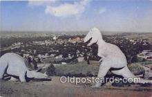 pre000032 - Prehistoric Dinosaurs Rapid City, South Dakota, USA Postcards Post Cards Old Vintage Antique