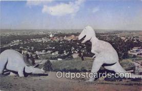 pre000032 - Prehistoric Dinosaurs Rapid City, South Dakota, USA Postcards Post Cards Old Vintage Antique