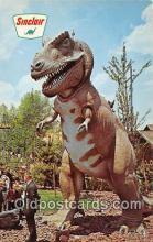 pre000042 - Triceratops, Dinosaur Park New York World's Fair 1964-65, USA Postcards Post Cards Old Vintage Antique