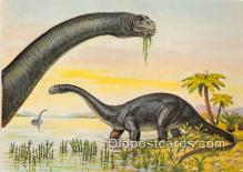 pre000050 - Brontosaurus Painting by Matthew Kalmenoff Postcards Post Cards Old Vintage Antique