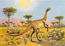 pre000054 - Struthiomimus Painting by Matthew Kalmenoff Postcards Post Cards Old Vintage Antique