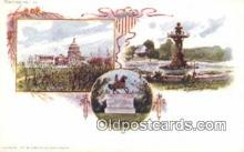 prg001003 - By American Souvenir Card Co. 1897 Washington Patriographics, Postcard Postcards