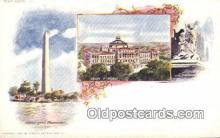 prg001006 - By American Souvenir Card Co. 1897 Washington Patriographics, Postcard Postcards