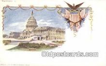 prg001009 - By American Souvenir Card Co. 1897 Washington Patriographics, Postcard Postcards
