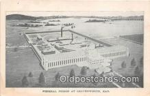 pri001041 - Federal Prison Leavenworth, Kansas USA Prison Postcard Post Card