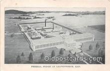 pri001046 - Federal Prison Leavenworth, Kansas USA Prison Postcard Post Card