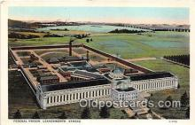 pri001047 - Federal Prison Leavenworth, Kansas USA Prison Postcard Post Card