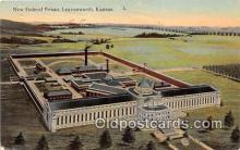 pri001073 - New Federal Prison Leavenworth, Kansas USA Prison Postcard Post Card