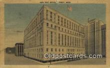 pst001003 - Detroit, Mich USA,  Post Office Postcard, Postoffice Post Card Old Vintage Antique