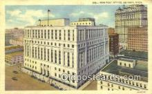 pst001004 - Detroit, Mich USA,  Post Office Postcard, Postoffice Post Card Old Vintage Antique