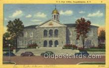 pst001007 - Poughkeepsie, NY USA,  Post Office Postcard, Postoffice Post Card Old Vintage Antique