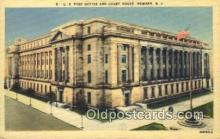 pst001011 - Newark, NJ USA,  Post Office Postcard, Postoffice Post Card Old Vintage Antique