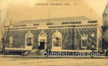 pst001014 - Middleboro, Mass USA,  Post Office Postcard, Postoffice Post Card Old Vintage Antique