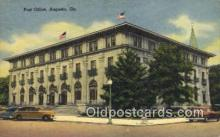 pst001024 - Augusta, GA USA,  Post Office Postcard, Postoffice Post Card Old Vintage Antique