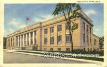 pst001025 - Flint, Mich USA,  Post Office Postcard, Postoffice Post Card Old Vintage Antique