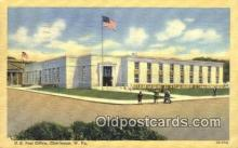 pst001030 - Charleston, W VA USA,  Post Office Postcard, Postoffice Post Card Old Vintage Antique