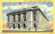 pst001031 - Spokane, Wash USA,  Post Office Postcard, Postoffice Post Card Old Vintage Antique