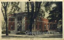 pst001035 - Greenfield, Mass USA,  Post Office Postcard, Postoffice Post Card Old Vintage Antique