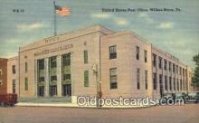 pst001040 - Wilkes Barre, PA USA,  Post Office Postcard, Postoffice Post Card Old Vintage Antique