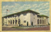 pst001042 - Clearwater, FL USA,  Post Office Postcard, Postoffice Post Card Old Vintage Antique
