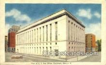 pst001055 - Cincinnati, OH USA,  Post Office Postcard, Postoffice Post Card Old Vintage Antique