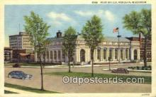 pst001068 - Kenosha, WI USA,  Post Office Postcard, Postoffice Post Card Old Vintage Antique