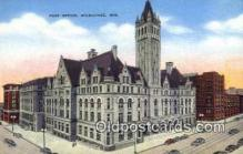 pst001069 - Milwaukee, WI USA,  Post Office Postcard, Postoffice Post Card Old Vintage Antique