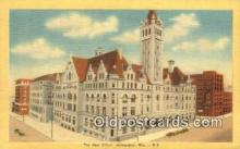 pst001070 - Milwaukee, WI USA,  Post Office Postcard, Postoffice Post Card Old Vintage Antique
