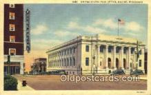 pst001071 - Racine, WI USA,  Post Office Postcard, Postoffice Post Card Old Vintage Antique