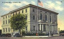 pst001080 - Gadsden, Ala USA,  Post Office Postcard, Postoffice Post Card Old Vintage Antique