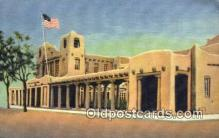 pst001087 - Santa Fe, NM USA,  Post Office Postcard, Postoffice Post Card Old Vintage Antique