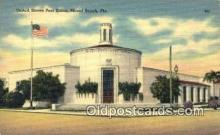 pst001100 - Miami Beach, FL USA,  Post Office Postcard, Postoffice Post Card Old Vintage Antique