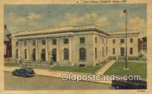 pst001101 - Pittsfield, Mass USA,  Post Office Postcard, Postoffice Post Card Old Vintage Antique