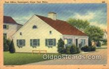 pst001106 - Cape Cod, Mass USA,  Post Office Postcard, Postoffice Post Card Old Vintage Antique
