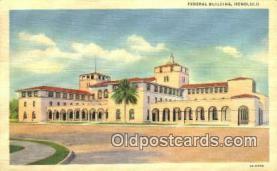 pst001114 - Honolulu, Hawaii, USA,  Post Office Postcard, Postoffice Post Card Old Vintage Antique