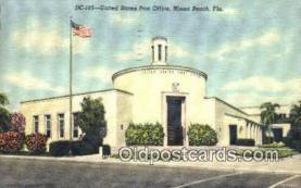 pst001120 - Miami Beach, FL USA,  Post Office Postcard, Postoffice Post Card Old Vintage Antique
