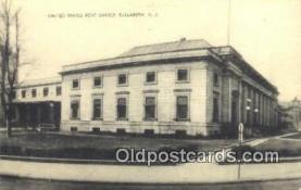 pst001121 - Elizabeth, NJ USA,  Post Office Postcard, Postoffice Post Card Old Vintage Antique