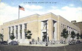 pst001122 - Atlantic City, NJ USA,  Post Office Postcard, Postoffice Post Card Old Vintage Antique