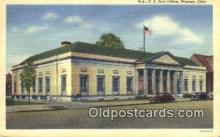 pst001123 - Warren, OH USA,  Post Office Postcard, Postoffice Post Card Old Vintage Antique