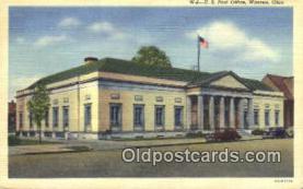 pst001123 - Warren, OH USA,  Post Office Postcard, Postoffice Post Card Old Vintage Antique