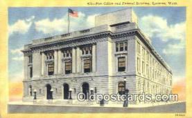 pst001129 - Spokane, Wash USA,  Post Office Postcard, Postoffice Post Card Old Vintage Antique