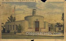 pst001130 - Miami Beach, FL USA,  Post Office Postcard, Postoffice Post Card Old Vintage Antique