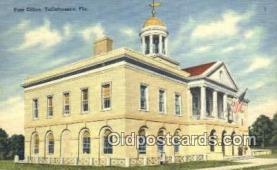 pst001136 - Tallahassee, FL USA,  Post Office Postcard, Postoffice Post Card Old Vintage Antique