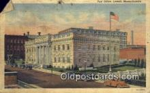 pst001141 - Lowell, Mass USA,  Post Office Postcard, Postoffice Post Card Old Vintage Antique