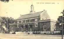 pst001142 - Norwood, Mass USA,  Post Office Postcard, Postoffice Post Card Old Vintage Antique
