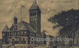 pst001145 - Taunton, Mass USA,  Post Office Postcard, Postoffice Post Card Old Vintage Antique