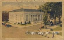 pst001146 - Taunton, Mass USA,  Post Office Postcard, Postoffice Post Card Old Vintage Antique