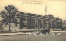 pst001147 - Waltham, Mass USA,  Post Office Postcard, Postoffice Post Card Old Vintage Antique